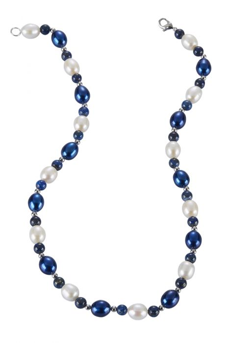 Oval Blue Pearl Necklace Blue Pearl Necklace The Pearl Company