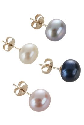9ct Gold Stud Pearl Earrings