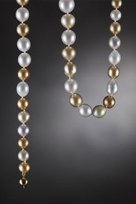 Multi-colour South Sea Pearl Necklace