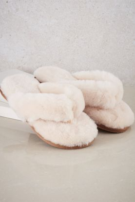 Sheepskin Flip Flop Slippers