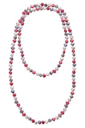 """44"""" Berry Pearl Rope."""