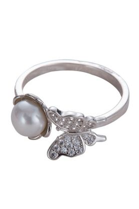 Pearl Butterfly Ring