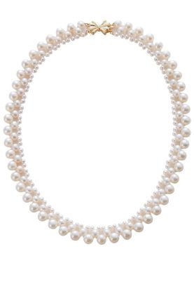 """16"""" Pearl Collar Necklace."""