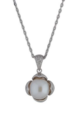 Flower Cup Pearl Pendant
