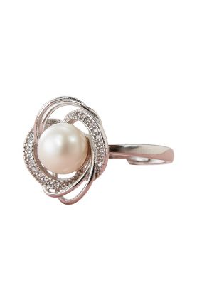 Pearl Curve Ring