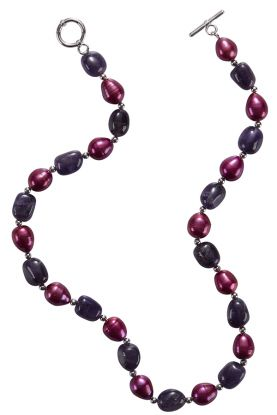 Cherry Pearl & Amethyst Necklace