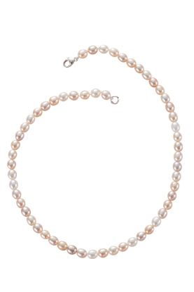 Round Pink Pearl Necklace