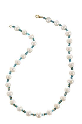 """18"""" Pearl & Tourmaline Necklace"""