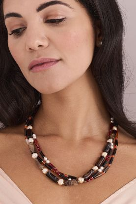"""19"""" Pearl & Agate Necklace"""