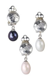 Pearl Circle Drop Clip-on Earrings