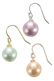 mother of pearl earrings  in lilac, mint. peach