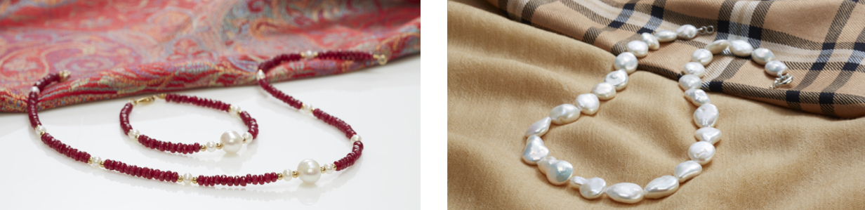 See our beautiful range of pearl jewellery at The Pearl company retail shop