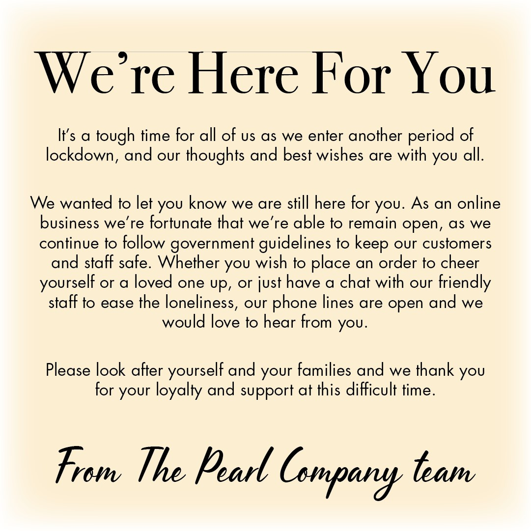 We are open and working safely you bring you beautiful pearls
